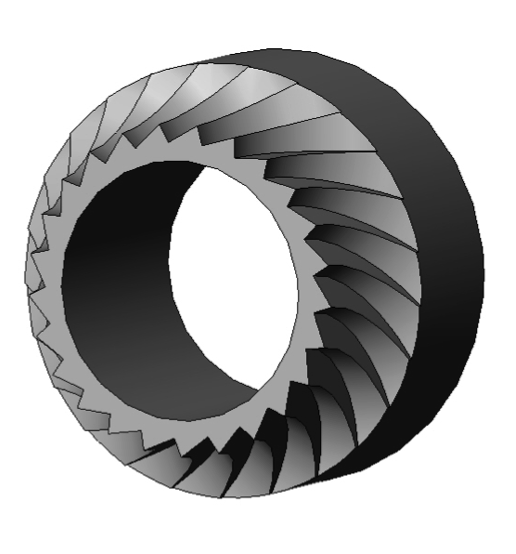 Figure 2. Mid-section view of Jaws filament drive gear