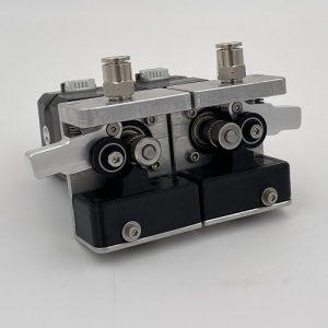 a etal dual extrusion extruder for a 3d printer