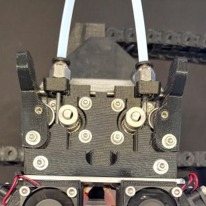 a 3d printer extruder made from polycarbonate