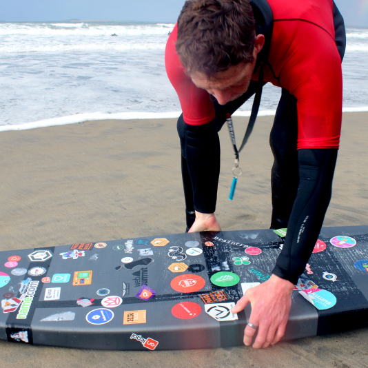 We were honored so many isurfIreland instructors tested out the surfboard. Photo by Katy Jeremko