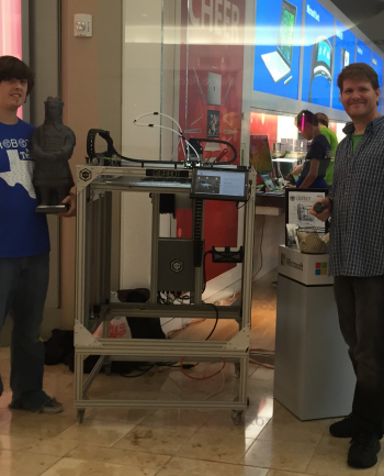Todd & Robert demo the Surface Pro on Gigabot at the Microsoft Store at Baybrook Mall