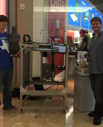 Todd & Robert demo the Surface Pro on Gigabot at the Microsoft Store at Baybrook Mall