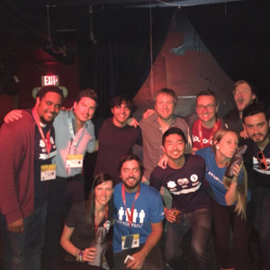 Sam reunites w/Start-Up Chile Alums & Staff after speaking on their SXSW panel