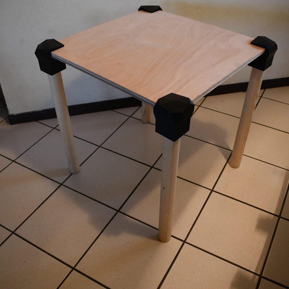 Assembled Table w/ 3D Printed Joints 2