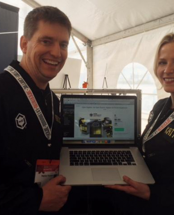 Katy & Patrick Launch OpenGB live on Kickstarter at SXSW Create in March